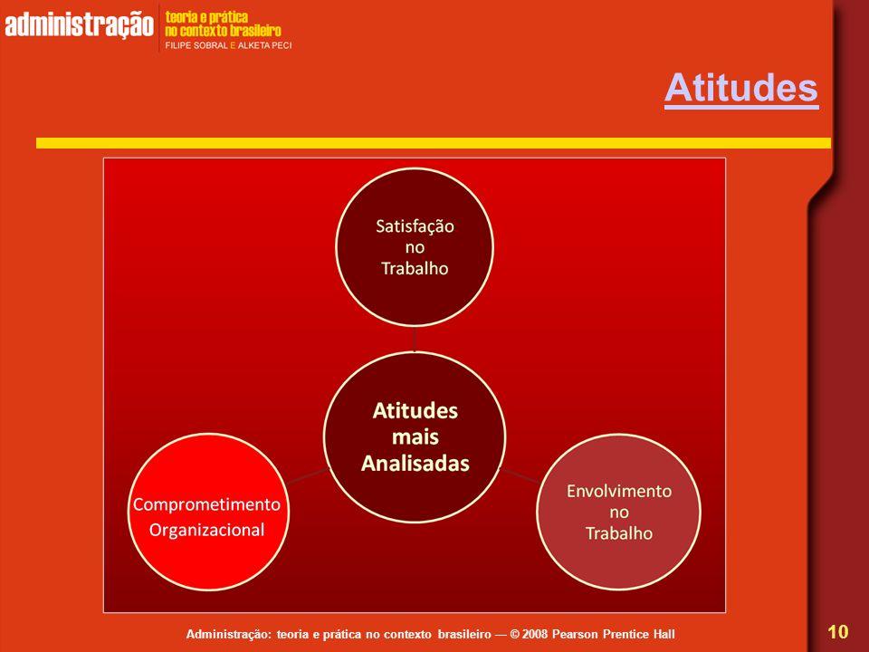 Administração: teoria e prática no contexto brasileiro © 2008 Pearson Prentice Hall Atitudes 10