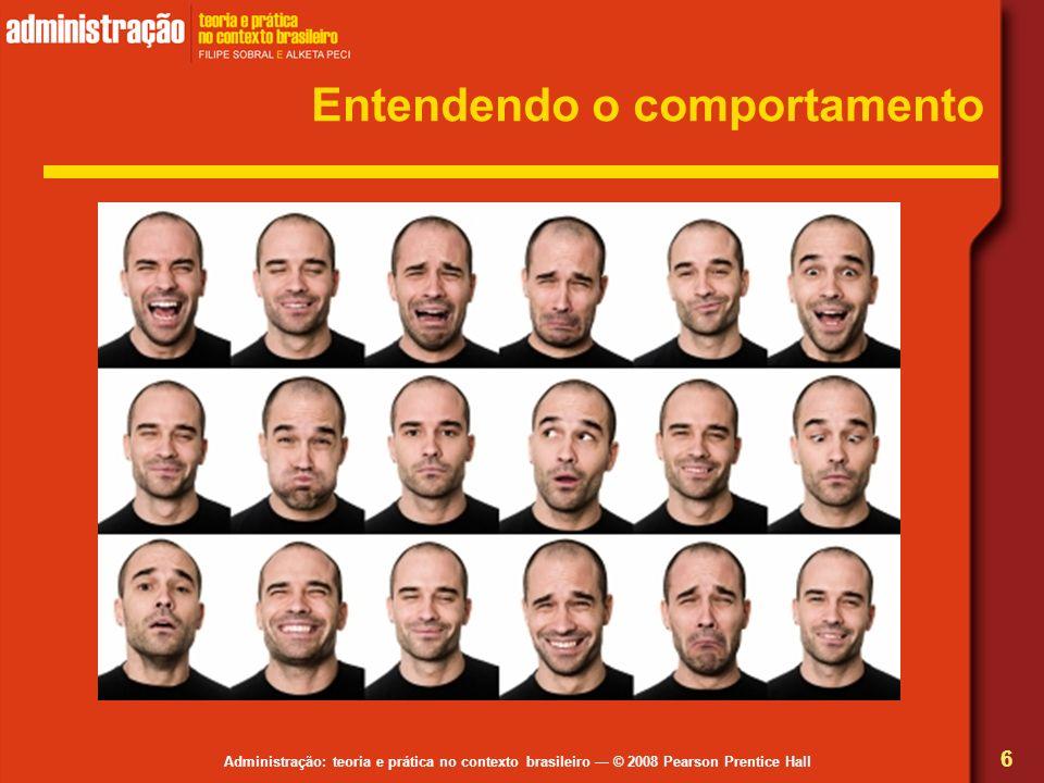 Administração: teoria e prática no contexto brasileiro © 2008 Pearson Prentice Hall Entendendo o comportamento 6