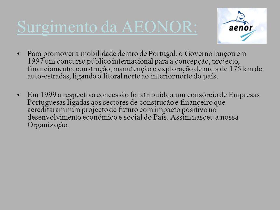 Surgimento da AEONOR: Para promover a mobilidade dentro de Portugal, o Governo lançou em 1997 um concurso público internacional para a concepção, proj