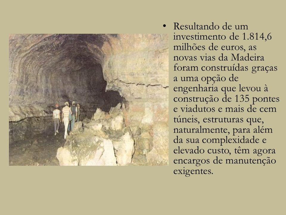 Resultando de um investimento de 1.814,6 milhões de euros, as novas vias da Madeira foram construídas graças a uma opção de engenharia que levou à con