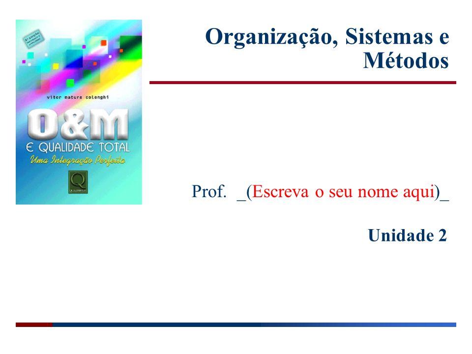 Unidade 2 Organização, Sistemas e Métodos Prof. _(Escreva o seu nome aqui)_