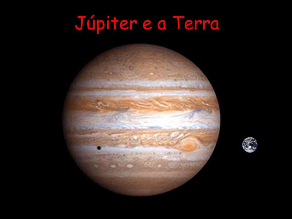 Os planetas Júpiter 40 minutos-luz
