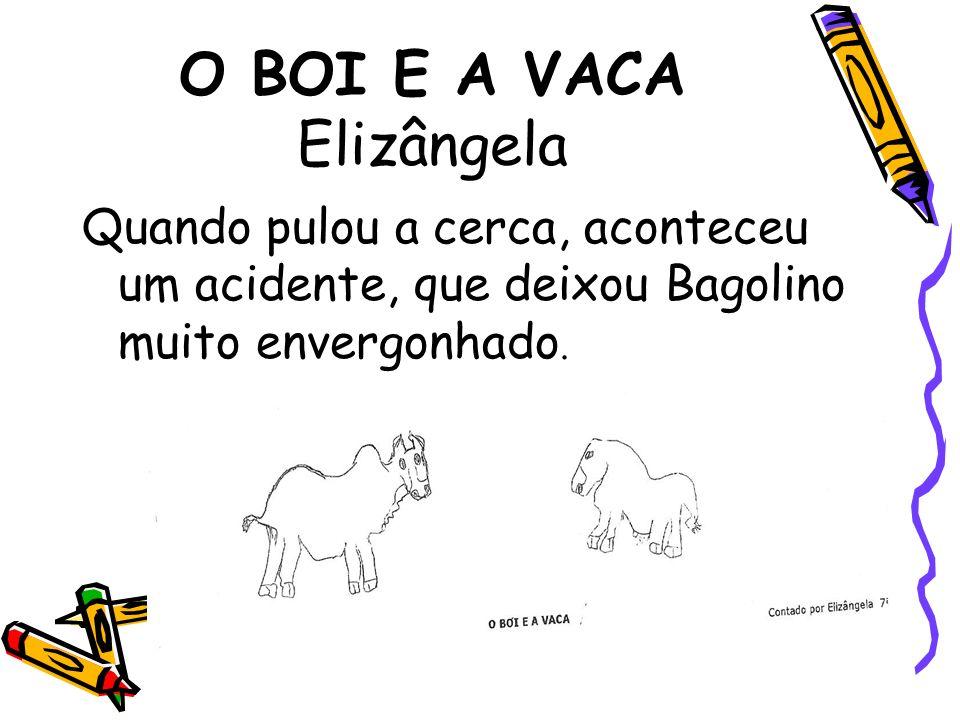 O BOI E A VACA Elizângela Quando pulou a cerca, aconteceu um acidente, que deixou Bagolino muito envergonhado.