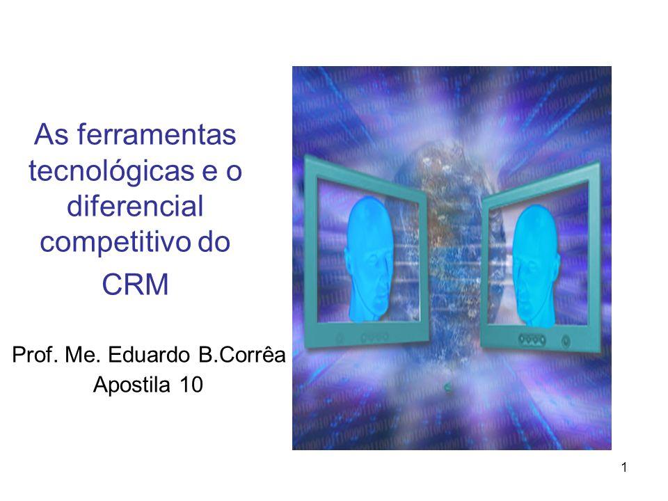 1 As ferramentas tecnológicas e o diferencial competitivo do CRM Prof. Me. Eduardo B.Corrêa Apostila 10