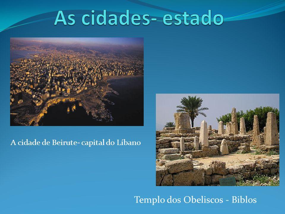Templo dos Obeliscos - Biblos A cidade de Beirute- capital do Líbano
