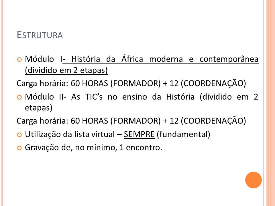 E QUIPE Maria Thereza Didier (formadora/ editora do DVD) Marcus Carvalho (formador/professor do Módulo I) Paulo Alexandre (formador/ professor do Módulo II) Josete Ramos (secretária) Adriana Maria Paulo da Silva (coordenadora)