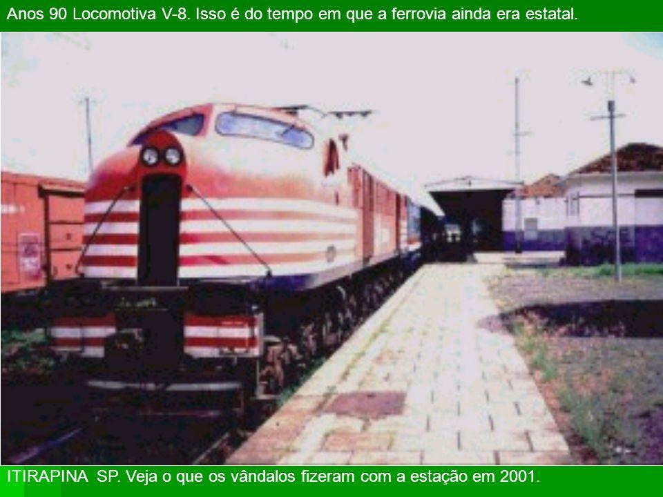 ITAQUAQUECETUBA 2003 Antiga E.F. Central do Brasil, RFFSA e atual Cia Paulista de Trens Metropolitanos.