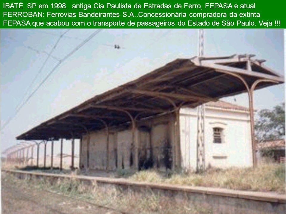 IBATÉ SP em 1998.