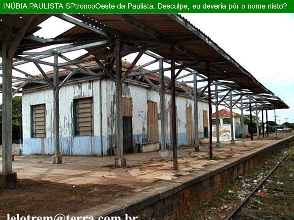 Interlagos São Paulo SP anos 90 antiga EFS/ FEPASA Olha que derrubada! Plataforma de madeira! Que meda !