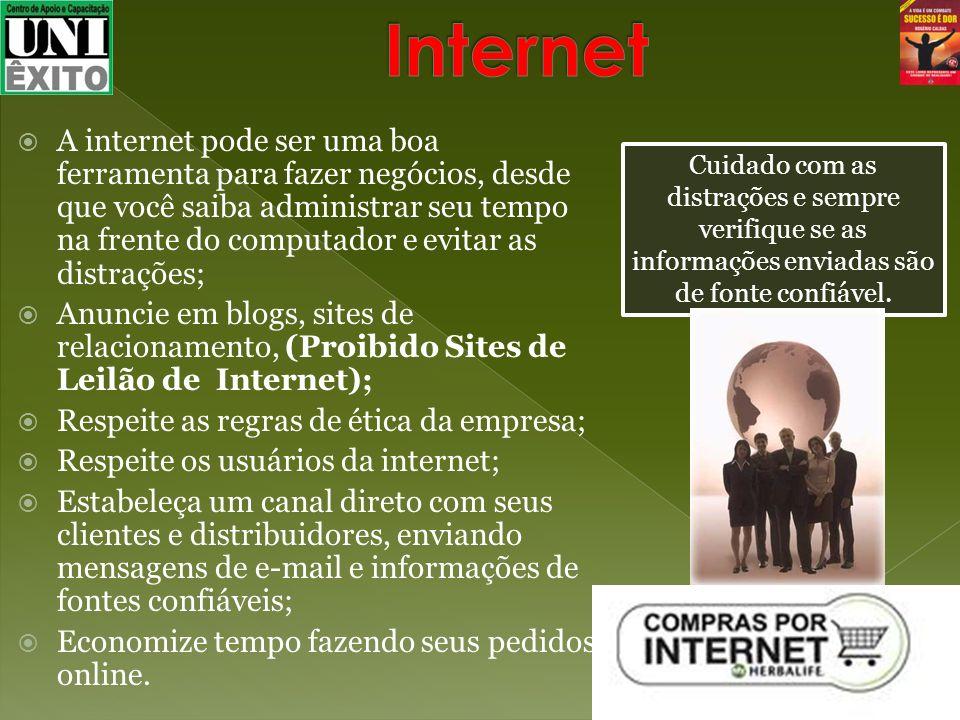 A internet pode ser uma boa ferramenta para fazer negócios, desde que você saiba administrar seu tempo na frente do computador e evitar as distrações;