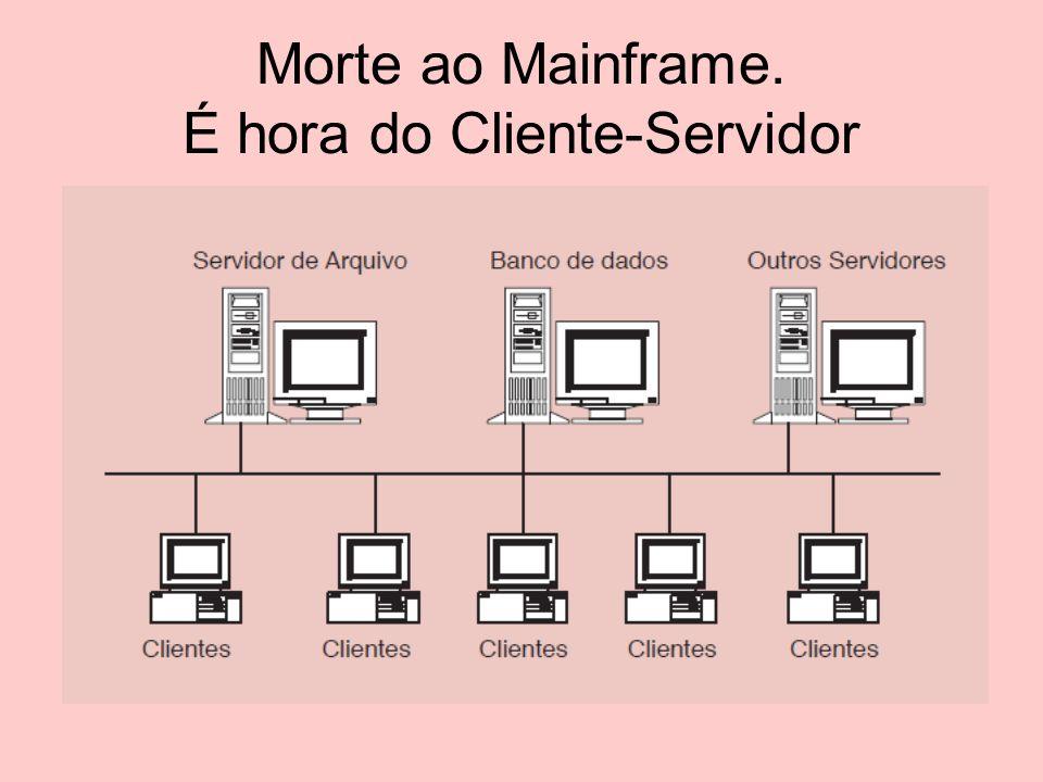 Cliente-Servidor No modelo Cliente/Servidor temos um ou mais equipamentos de maior capacidade de processamento.