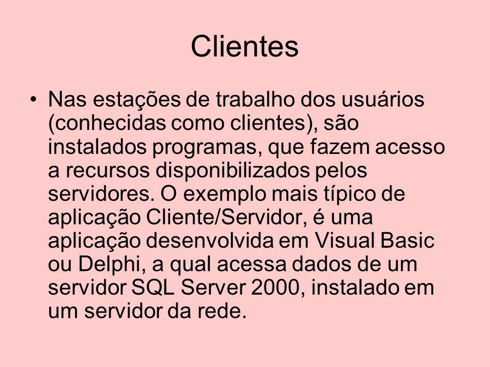 Solução: O modelo Cliente/Servidor pareceu, no início, ser uma solução definitiva em substituição ao modelo baseado no Mainframe.