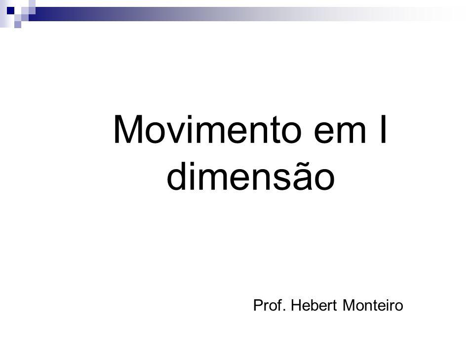 Prof. Hebert Monteiro Movimento em I dimensão