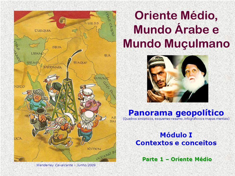 Oriente Médio, Mundo Árabe e Mundo Muçulmano Panorama geopolítico (Quadros sinópticos, esquemas-resumo, infográficos e mapas mentais) Módulo I Context