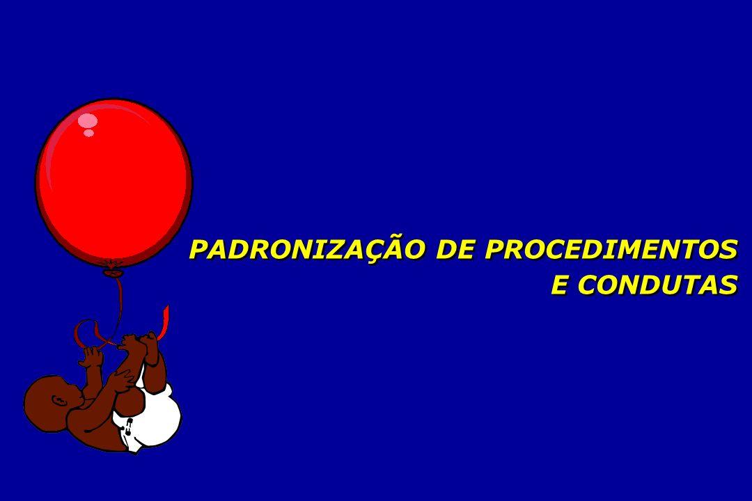 PADRONIZAÇÃO DE PROCEDIMENTOS E CONDUTAS PADRONIZAÇÃO DE PROCEDIMENTOS E CONDUTAS