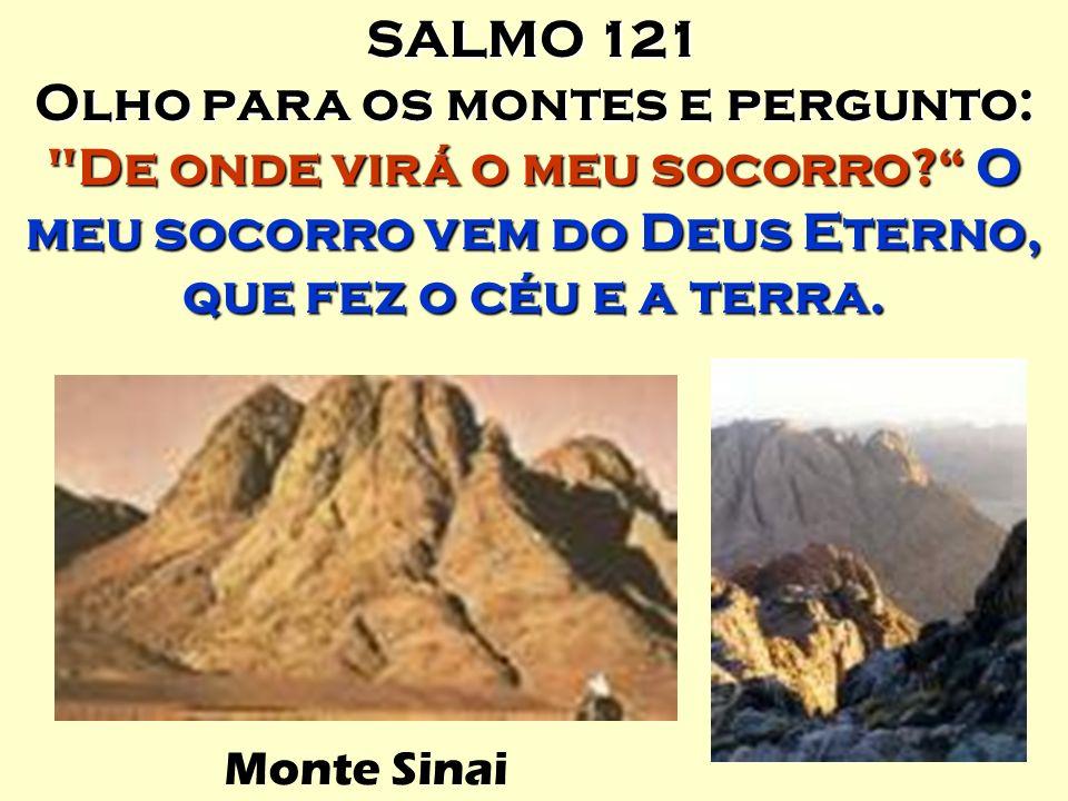 SALMO 121 Olho para os montes e pergunto: