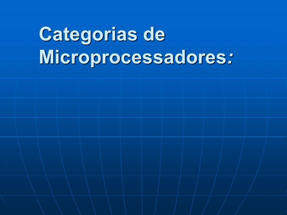 Categorias de Microprocessadores: