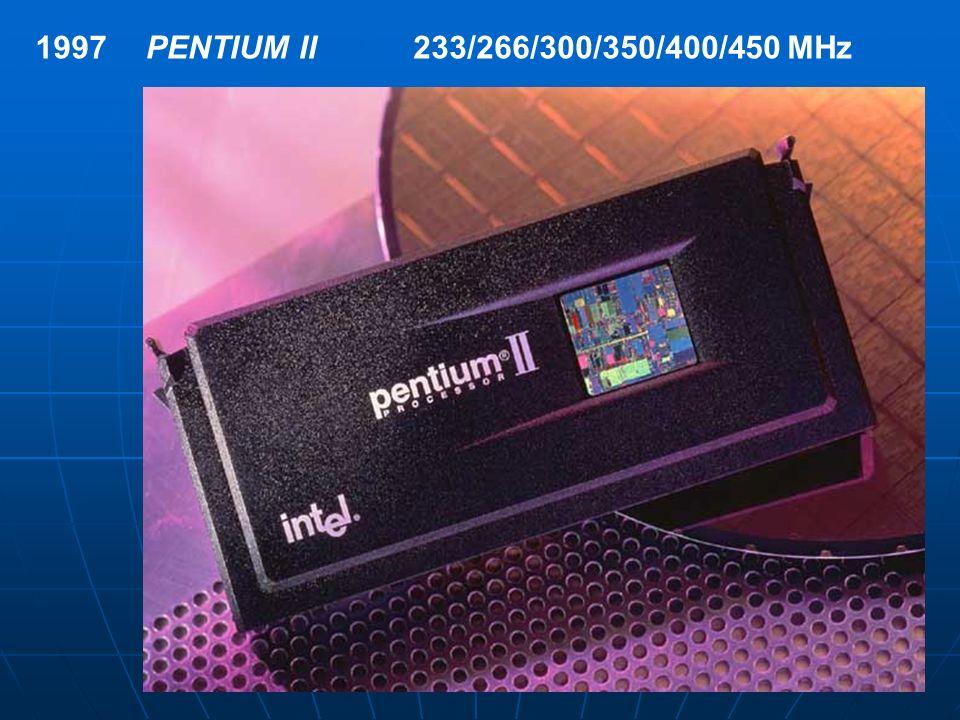 1997PENTIUM II233/266/300/350/400/450 MHz