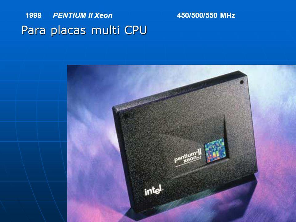 1998PENTIUM II Xeon450/500/550 MHz Para placas multi CPU