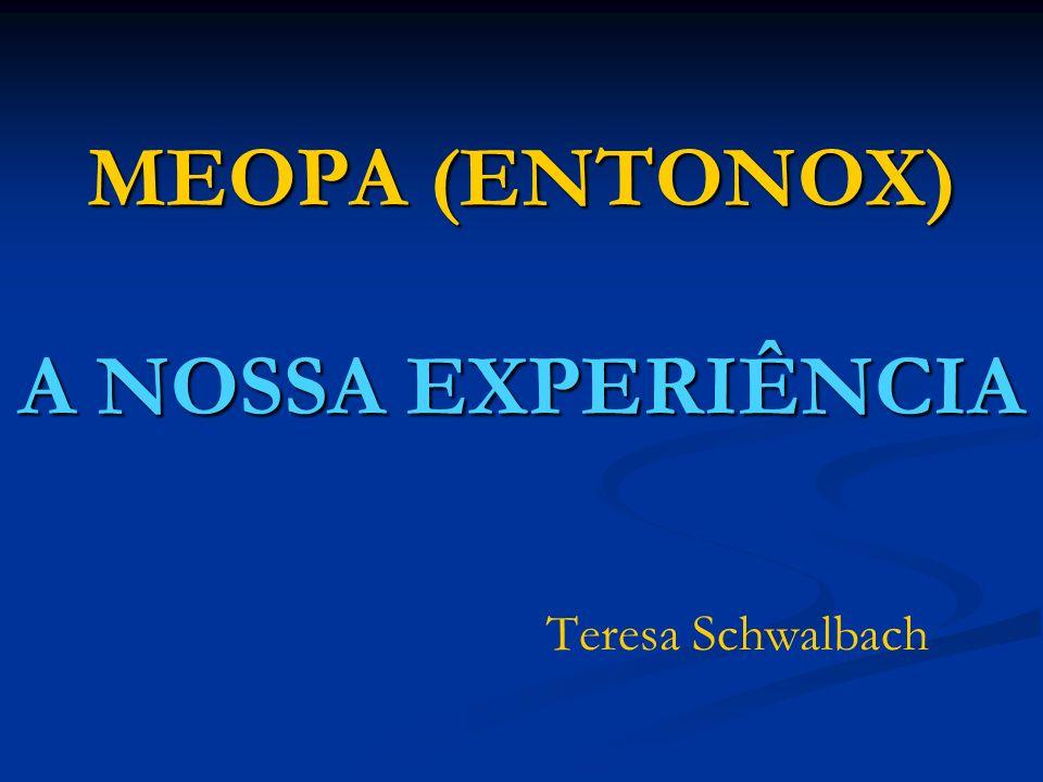 MEOPA (ENTONOX) A NOSSA EXPERIÊNCIA Teresa Schwalbach
