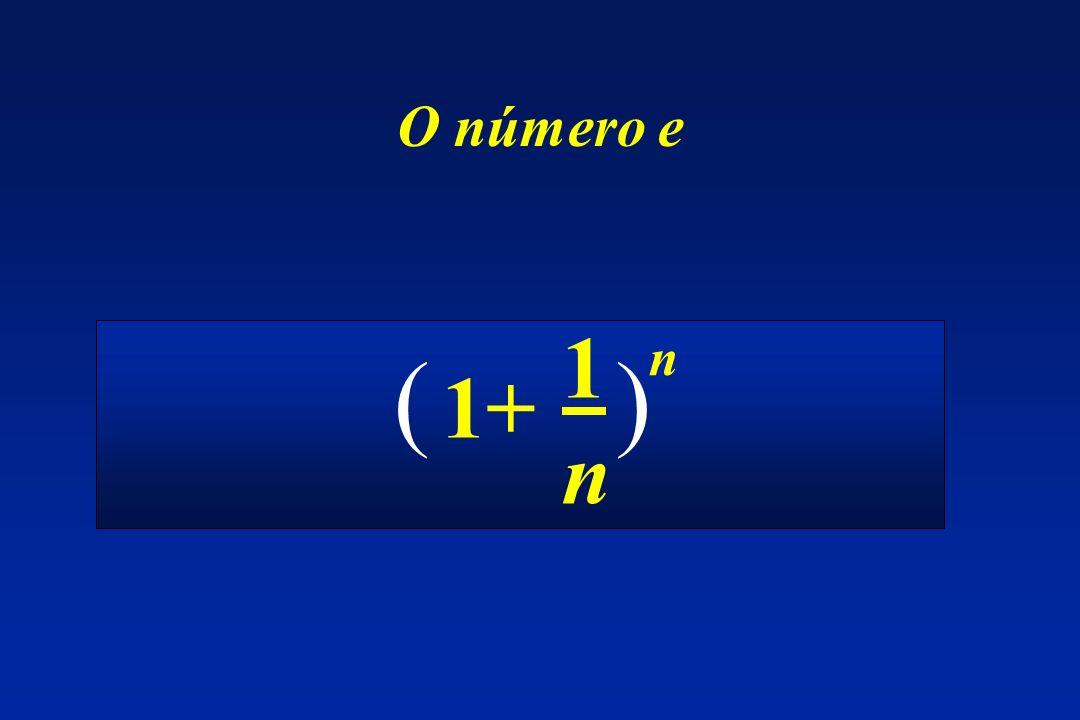 O número e 1+ 1n1n ( ) n