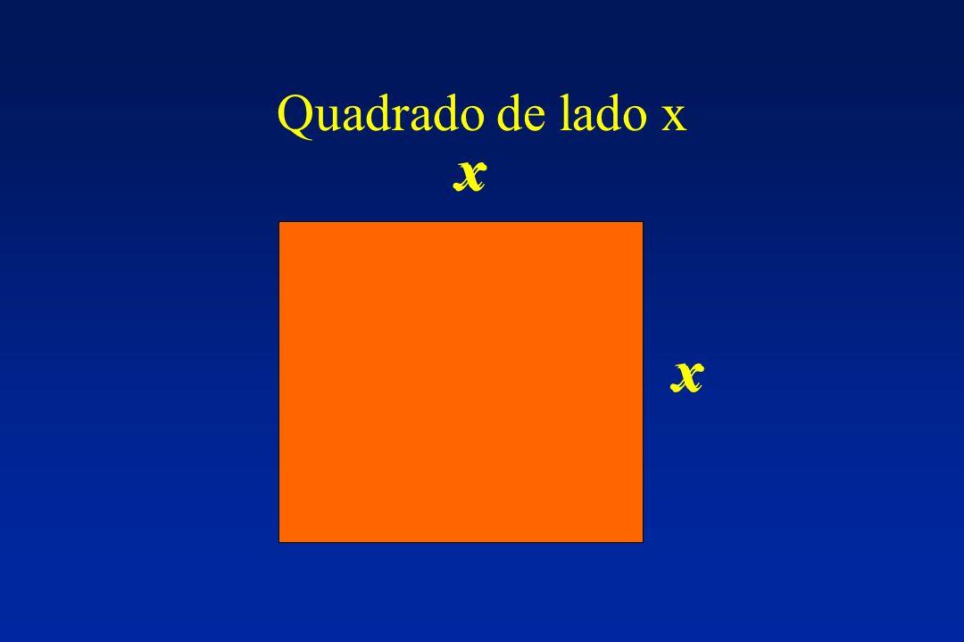 Quadrado de lado x x x x x