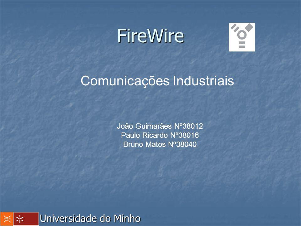 FireWire Universidade do Minho Comunicações Industriais João Guimarães Nº38012 Paulo Ricardo Nº38016 Bruno Matos Nº38040