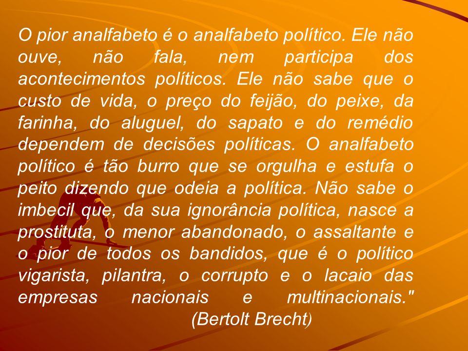 - Para Aristóteles o homem é um animal político e que, portanto, a política não está restrita às questões de Estado.