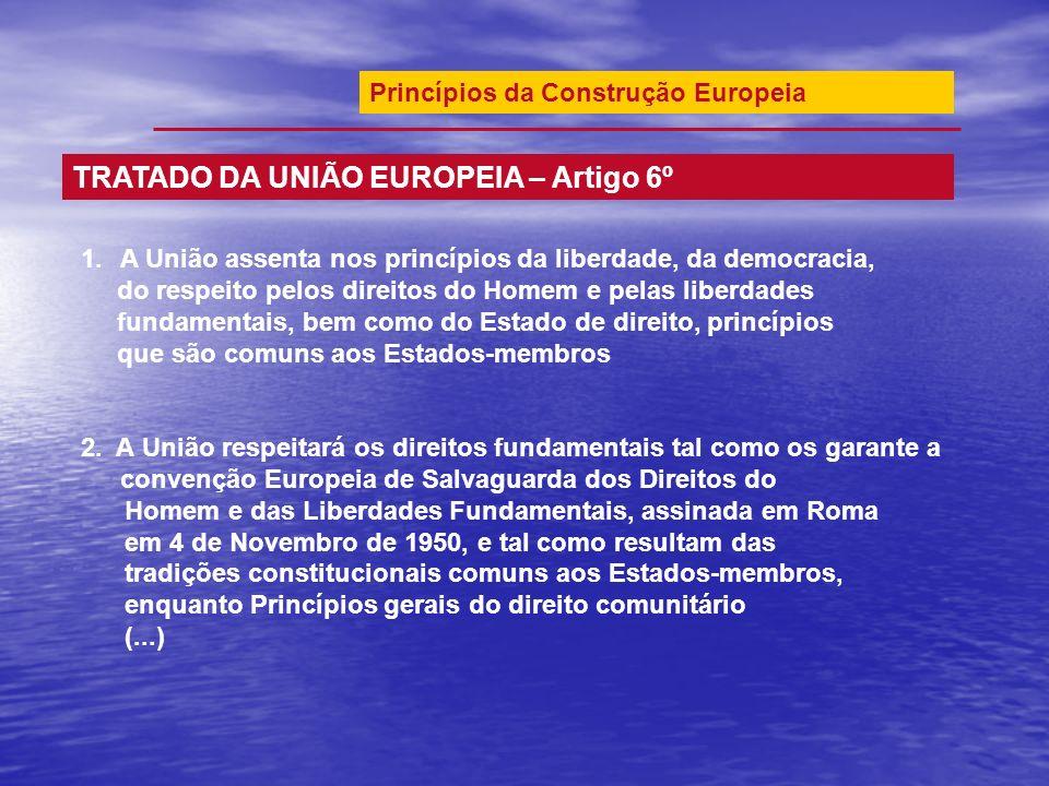 1.A União assenta nos princípios da liberdade, da democracia, do respeito pelos direitos do Homem e pelas liberdades fundamentais, bem como do Estado