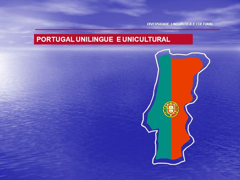 PORTUGAL UNILINGUE E UNICULTURAL