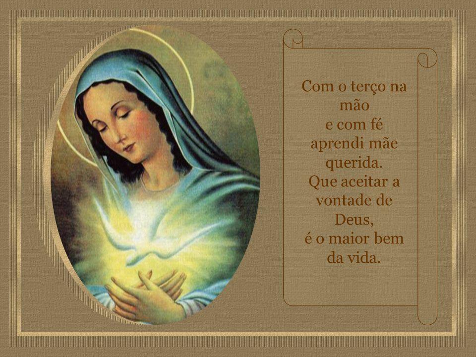 Sua ressurreição e aos céus a ascensão, no terceiro dia. Vossa coroação junto a Deus, Coração de Maria.