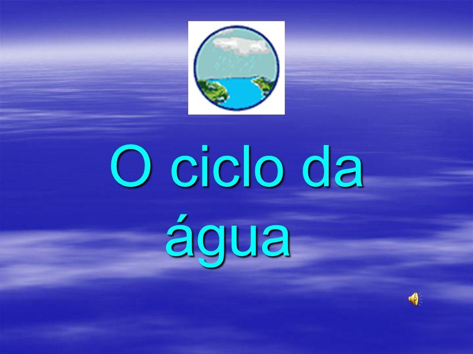 O ciclo da água O ciclo da água