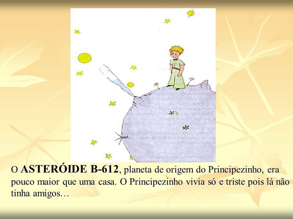 O ASTERÓIDE B-612, planeta de origem do Principezinho, era pouco maior que uma casa. O Principezinho vivia só e triste pois lá não tinha amigos…