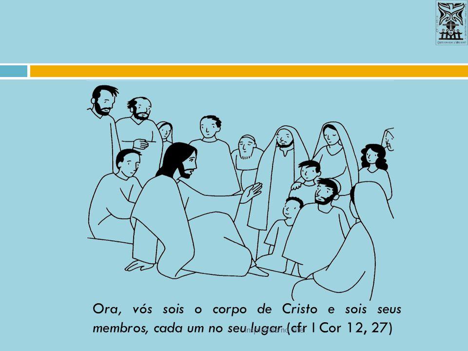Ora, vós sois o corpo de Cristo e sois seus membros, cada um no seu lugar (cfr I Cor 12, 27) Inspirado no site
