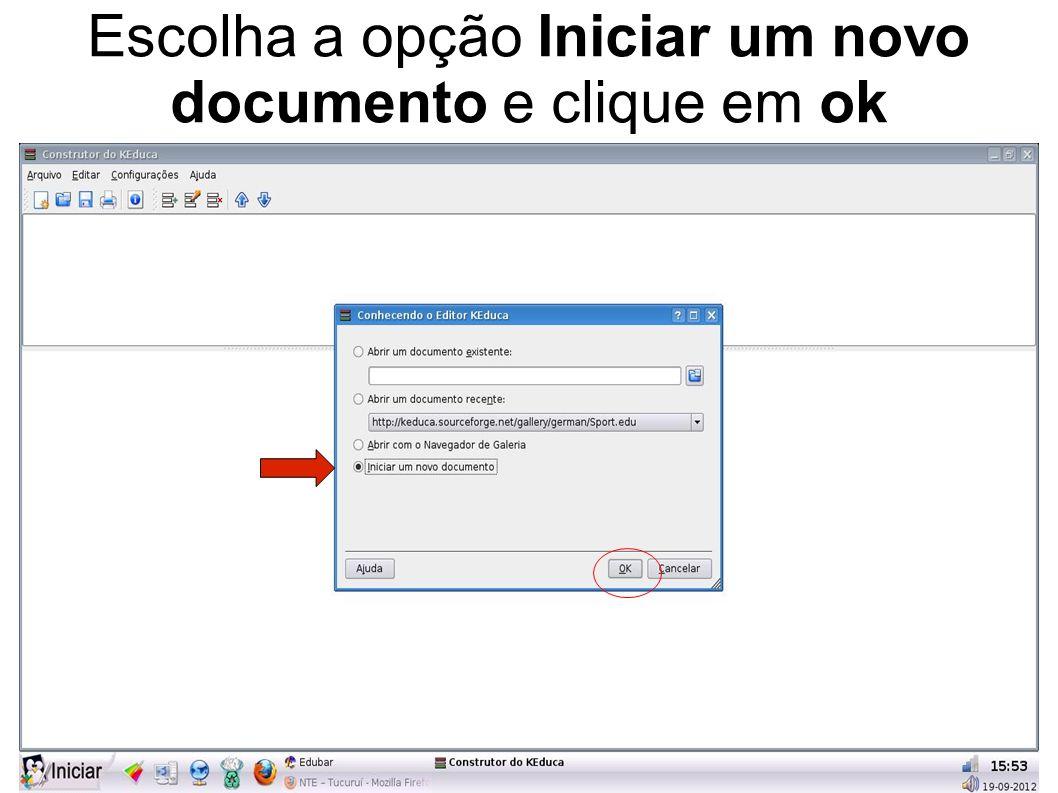 Para abrir a atividade, dê um duplo clique no ícone do questionário