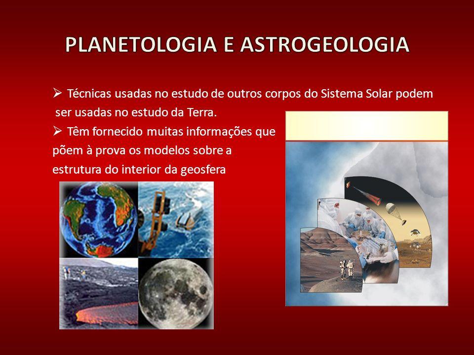 Técnicas usadas no estudo de outros corpos do Sistema Solar podem ser usadas no estudo da Terra. Têm fornecido muitas informações que põem à prova os
