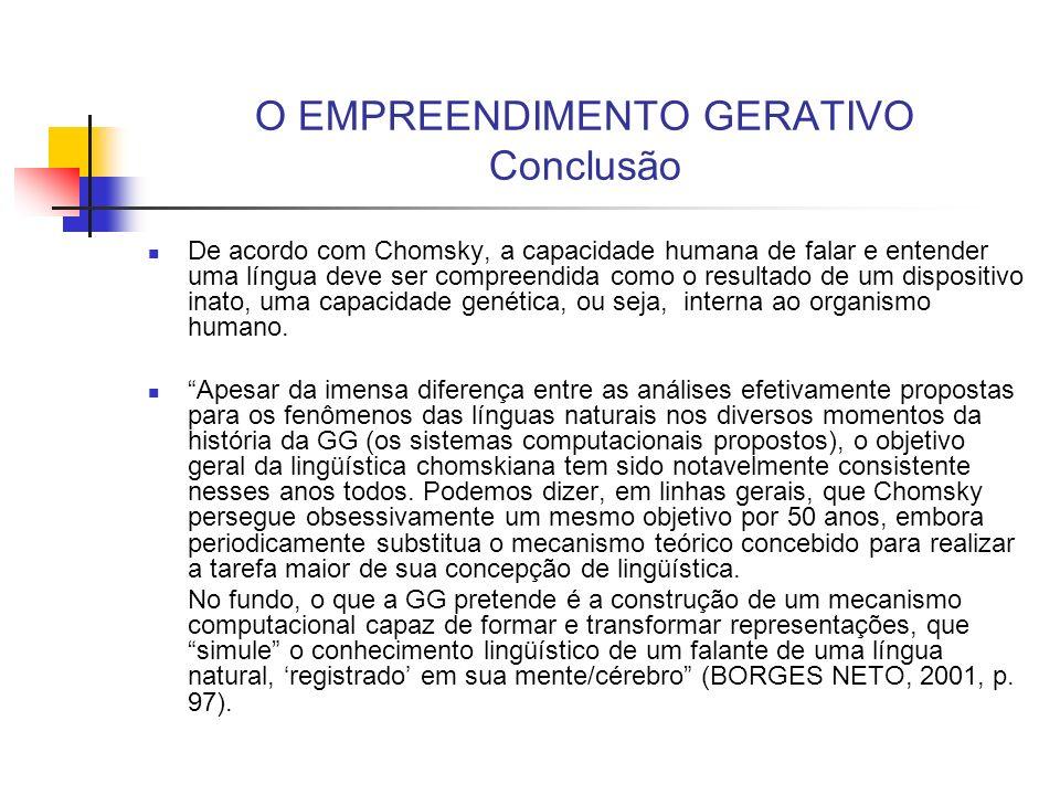 Referências BORGES NETO, J.O empreendimento gerativo.