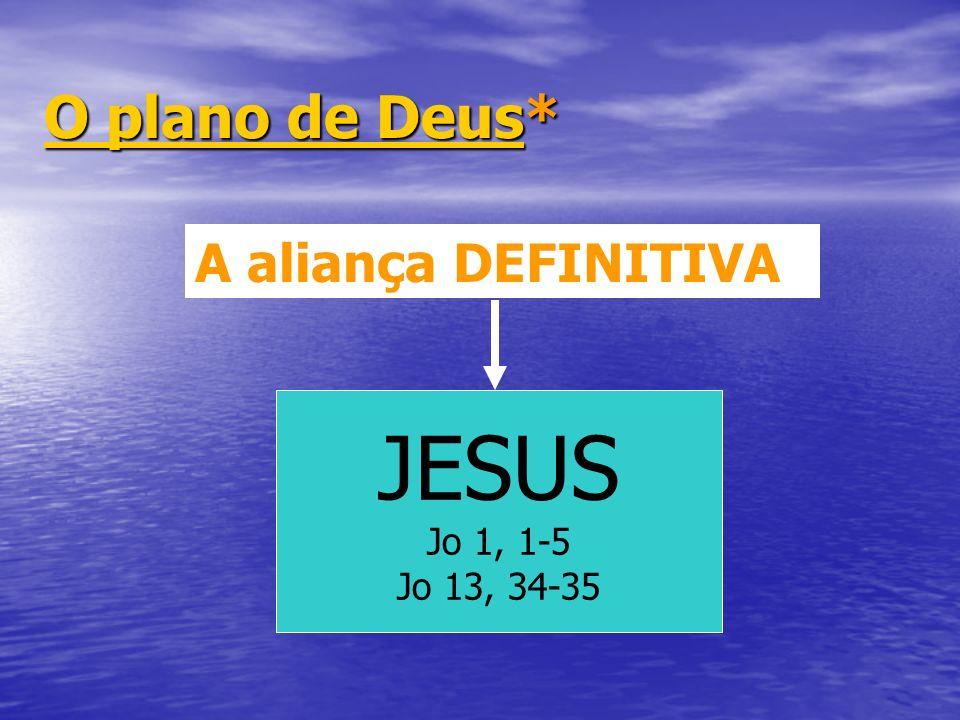 O plano de DeusO plano de Deus* O plano de Deus A aliança DEFINITIVA JESUS Jo 1, 1-5 Jo 13, 34-35