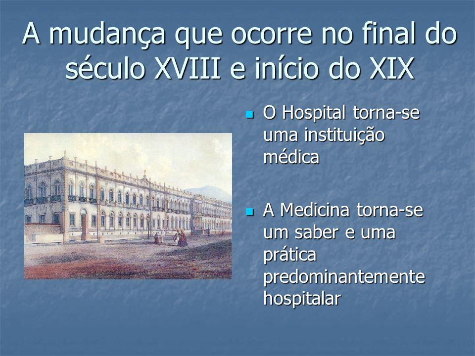O Nascimento do Hospital O hospital como instrumento terapêutico é uma invenção relativamente nova, que data do final do século XVIII.