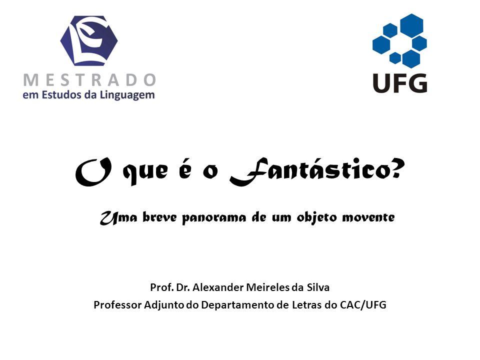 O que é o Fantástico? Prof. Dr. Alexander Meireles da Silva Professor Adjunto do Departamento de Letras do CAC/UFG Uma breve panorama de um objeto mov