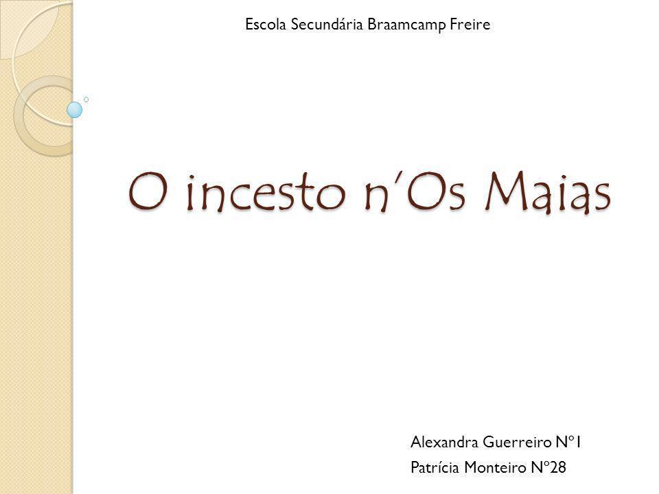O incesto nOs Maias Alexandra Guerreiro Nº1 Patrícia Monteiro Nº28 Escola Secundária Braamcamp Freire