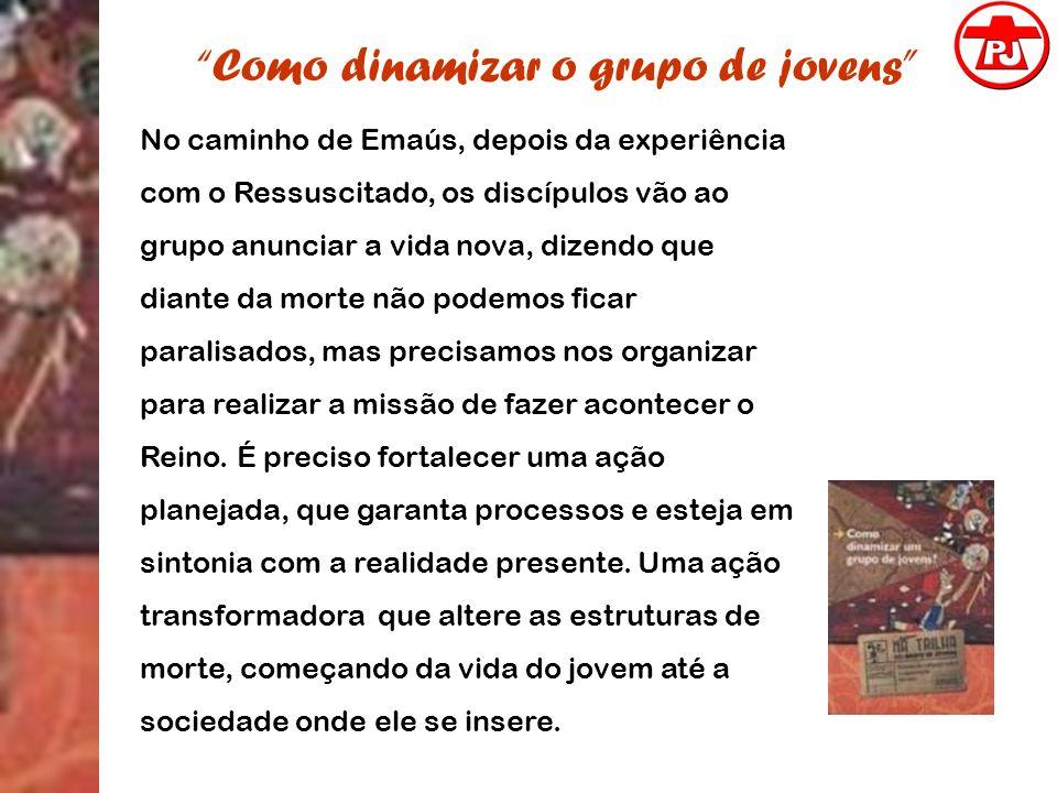 Como dinamizar o grupo de jovens No caminho de Emaús, depois da experiência com o Ressuscitado, os discípulos vão ao grupo anunciar a vida nova, dizen