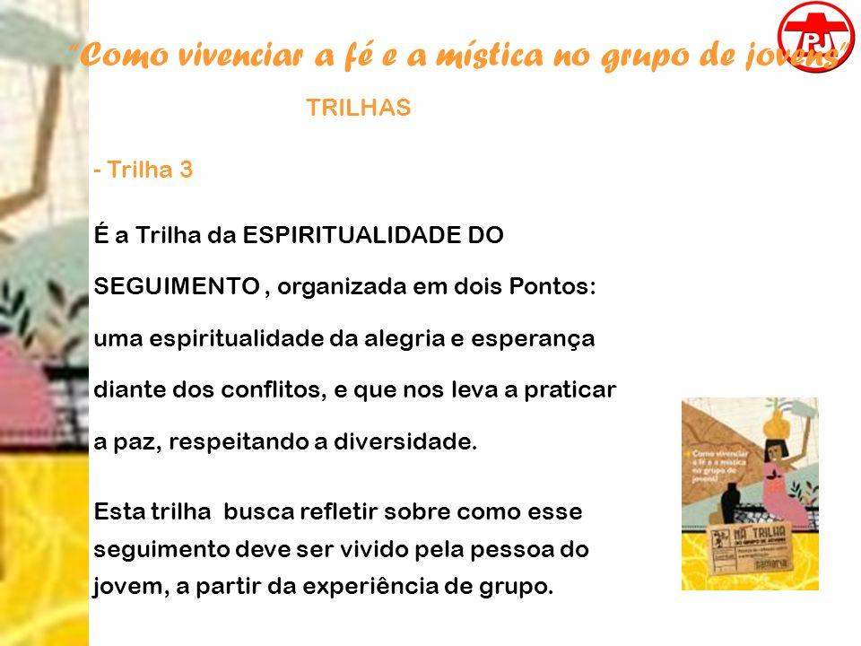 Como vivenciar a fé e a mística no grupo de jovens TRILHAS - Trilha 3 É a Trilha da ESPIRITUALIDADE DO SEGUIMENTO, organizada em dois Pontos: uma espi