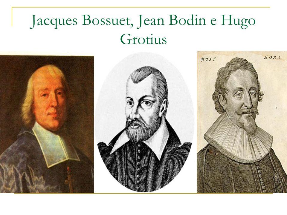 Jacques Bossuet, Jean Bodin e Hugo Grotius