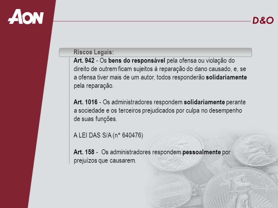 D&OD&O Riscos Legais: CÓDIGO TRIBUTÁRIO NACIONAL Art.
