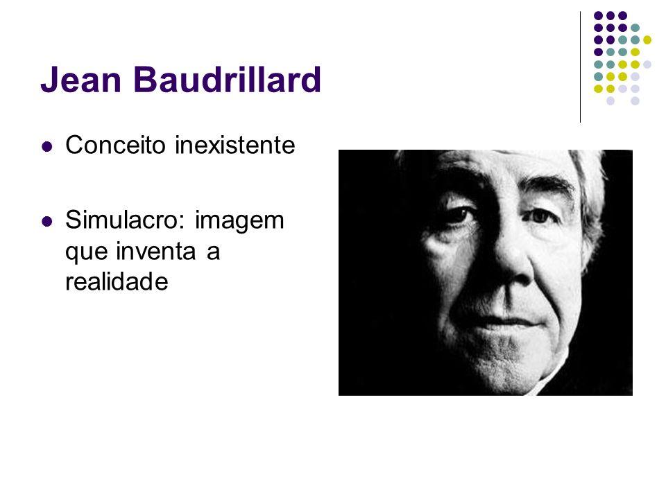 Jean Baudrillard Conceito inexistente Simulacro: imagem que inventa a realidade
