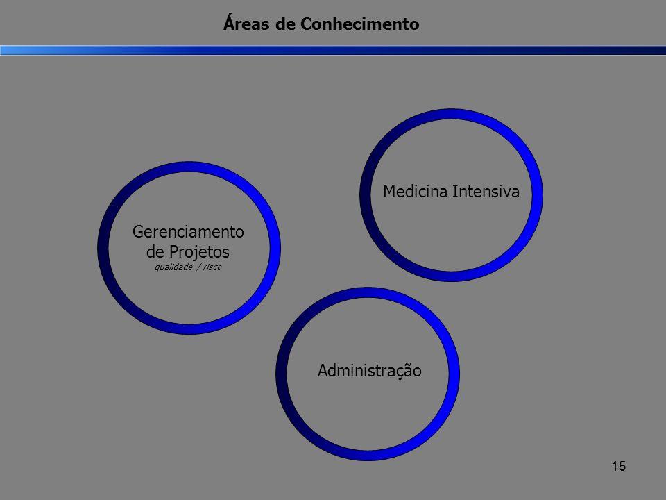 Áreas de Conhecimento Medicina IntensivaAdministração Gerenciamento de Projetos qualidade / risco 15