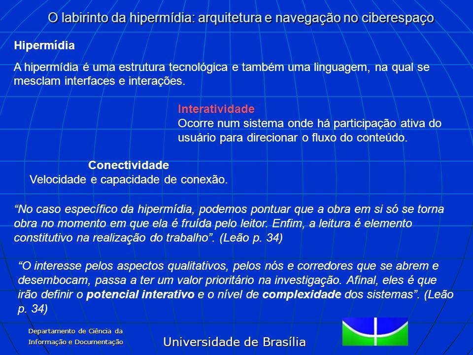 Universidade de Brasília O labirinto da hipermídia: arquitetura e navegação no ciberespaço Departamento de Ciência da Informação e Documentação Conect