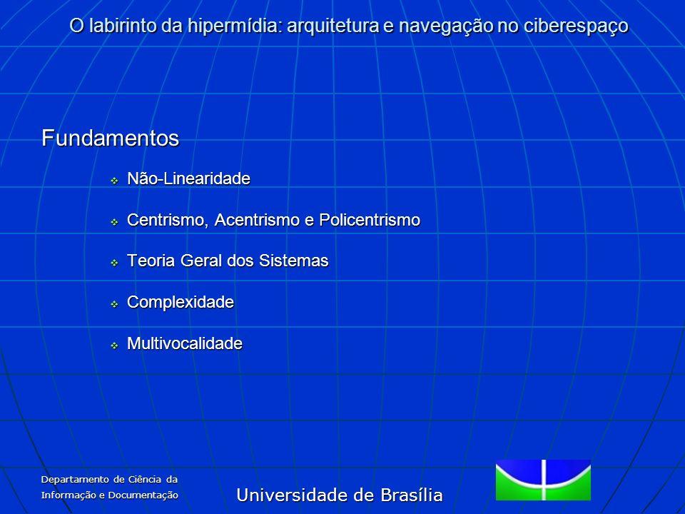 Universidade de Brasília O labirinto da hipermídia: arquitetura e navegação no ciberespaço Departamento de Ciência da Informação e Documentação Fundam