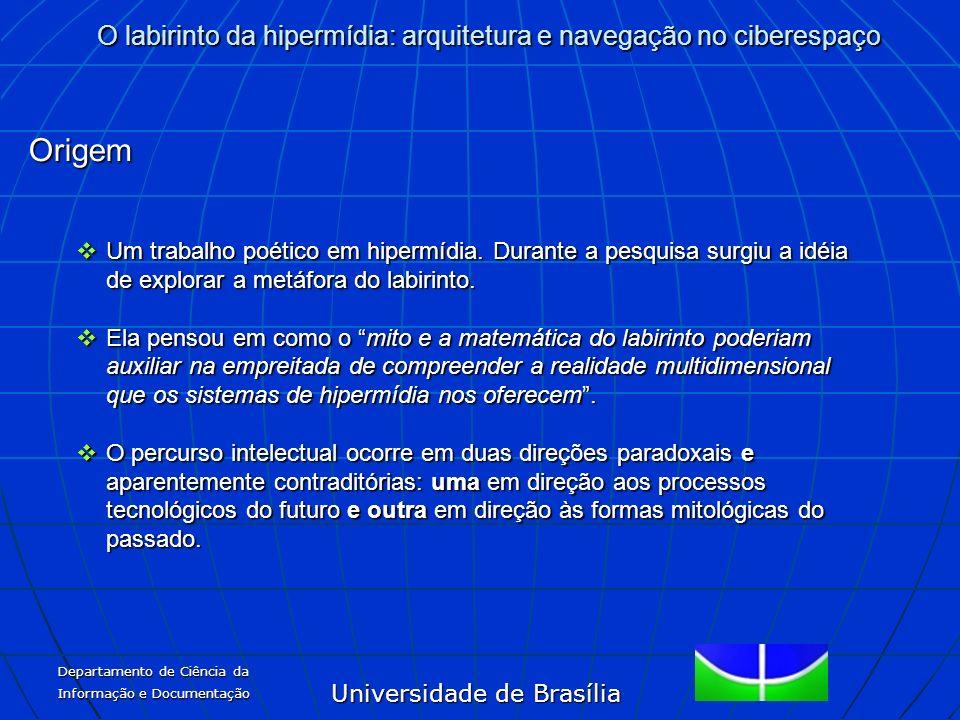 Universidade de Brasília O labirinto da hipermídia: arquitetura e navegação no ciberespaço Departamento de Ciência da Informação e Documentação Origem